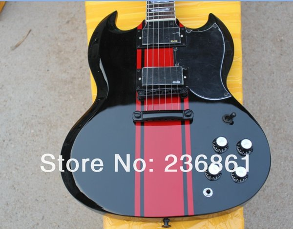 Best Top Musical instruments High Quality EMG pickup SG-400 black with red electric guitar