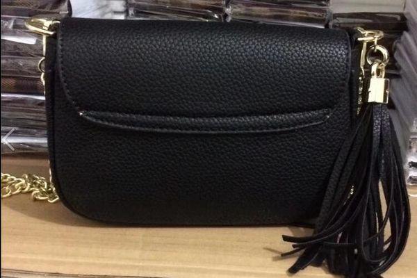 New Design Style Hot freee Shipping Women's Tassel Handbags Shoulder Message Bag Cross Body Gold CHain Bags Handbag Purse