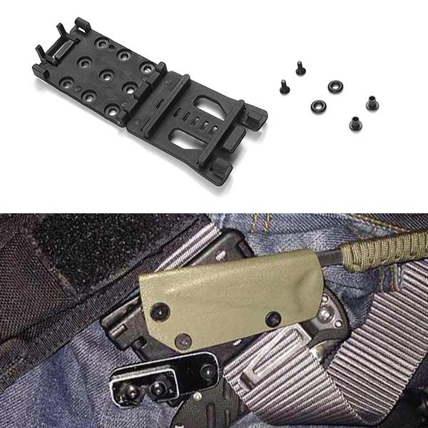 Multifunction Waist Clip Back Clamp K Tools Black Outdoor Sport Camping Climbing Travel EDC Gear Free Shipping