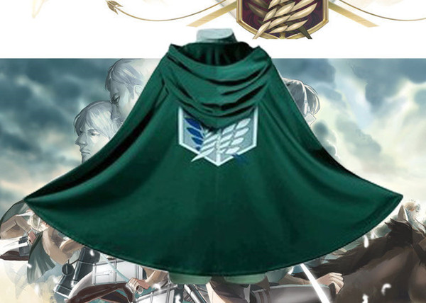 Attack On Titan Costume Green Cloak Japanese Anime Cosplay Shingeki No Kyojin Hoodie Eren Levi Mikasa Cloak Scout Legion Coat