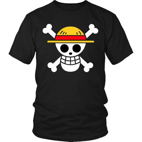 One Piece Shirt Anime Pirates Flag Unisex T-Shirt Luffy Shirt Anime Manga Tee Mens 2018 fashion Brand T Shirt O-Neck 100%cotton T-Shirt