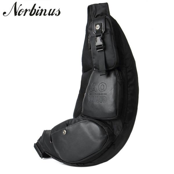 Durable Men Nylon/Canvas Sling Chest Pack Ride Day Packs Belt Half Moon Messenger Shoulder Travel Motorcycle Cross Body Bag