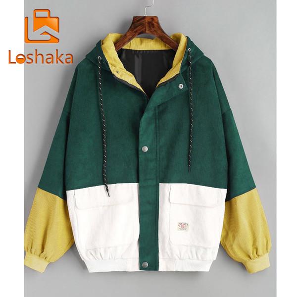 Plus Size Womens Long Sleeve Patchwork Jacket Windbreaker Coat Overcoats Outwear