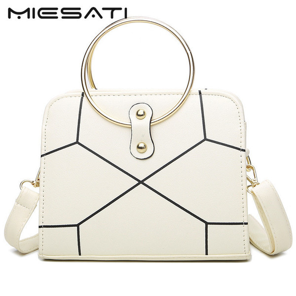 MIESATI Women Shoulder Bag Fashion Round Ring Party Purse Ladies Shoulder Bag Clutch Evening Bags Mini Tote Handbags Hand