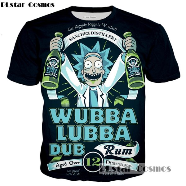 70f65a1ec4f PLstar Cosmos brand Rick and Morty T-shirt New Style Anime 3D print Shirt O