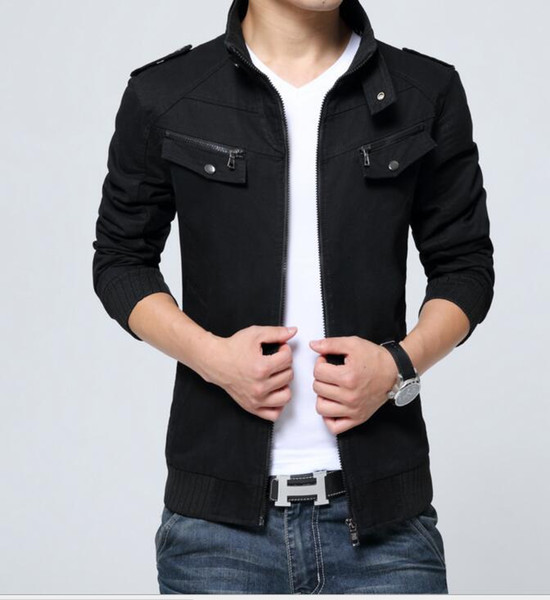 2018 New Autumn Jacket For Young Men And Cotton Jackets Coats Men's Turn-down Collar Quality Jacket Casual Man Clothes
