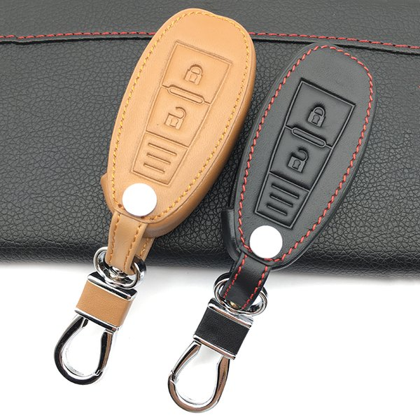 Genuine Leather Car Key Fob Cover Case Key Wallet Exclusive For Grand Vitara Ignis Samurai Liana Swift Sx4 Car shell