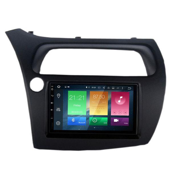 "COIKA 7"" Android 8.1 Car DVD Head Unit For Honda Civic 2006-2012(Hatchback) 8-Core 4+32/64G RAM GPS Navi Multiemdia BT WIFI 4G OBD DVR"
