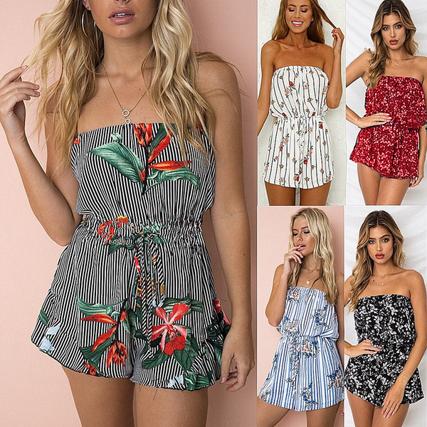 Euro-US style Women's clothing,Sexy,Wrapped chest , Strapless ,Jumpsuits,printing,pants ,girl clothing,clothes, N550