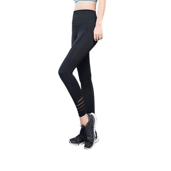 Pantaloni sportivi da donna Pantaloni sportivi Yoga Pantaloni da ginnastica senza cuciture Leggings per fitness Compressione Solid Slim Running Pants