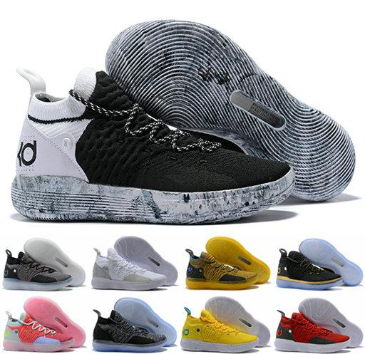 2018 pas cher KD 11 EP Elite Basketball Shoes 11s Hommes Multicolor Peach Jam Hommes Formateurs Doernbecher Kevin Durant 11 EYBL All-Star BHM Sneakers