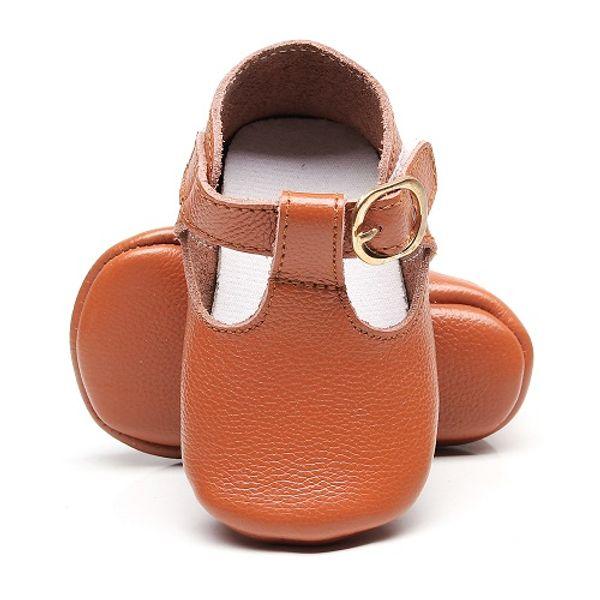 Couro genuíno T-bar Mary jane Bebés Meninas Sapatos Bebés Da Criança do bebê Princesa Sapatos de Ballet Recém-Nascido berço macio sole