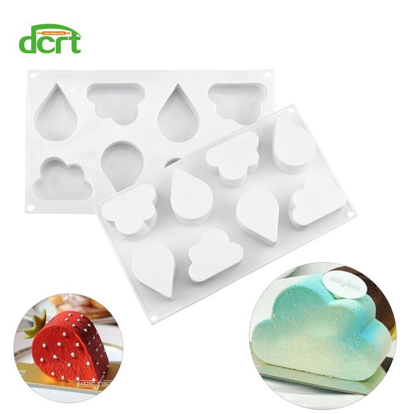 3D Water Droplets Cloud Shape Silicone Cake Mold Baking Tools For Cake Mousse Chocolate Bakeware Cake Decorating Tools