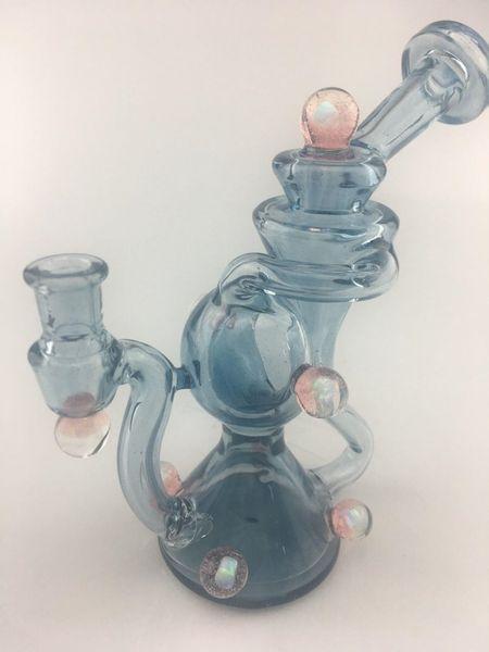 Gran 8 pulgadas de agua de vidrio de alta calidad bong de vidrio de la soberanía bong recto bong inferior Un vidrio transparente muy agradable