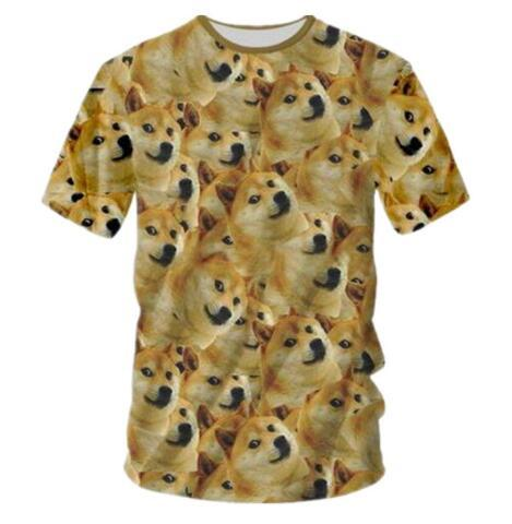 Newest Women/Men Print Animal Cute Dog 3D T-Shirts Summer Short Sleeve T Shirt Hip Hop Quick Dry Clothing O-neck Funny Tees 7XL