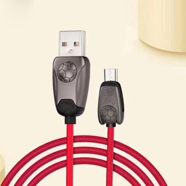 Android Cable World Cup Micro USB V8 Sync Charging Football Mobile Phone Cables For Android Samsung Huawei Xiaomi LG