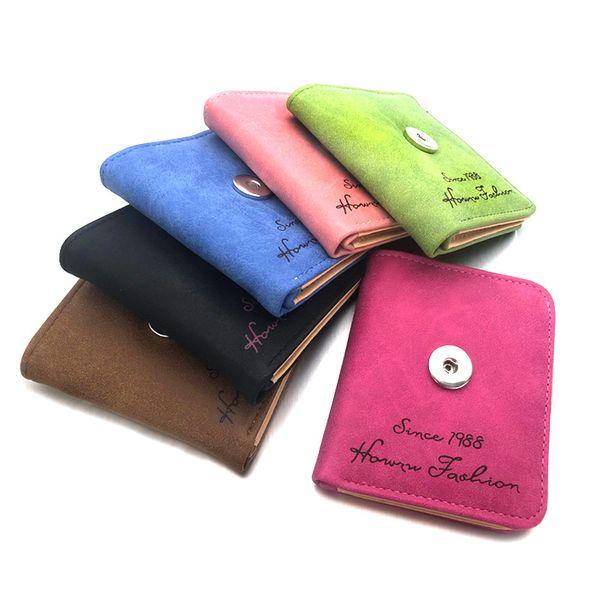 Coloré Brand New 008 Sac Bouton pression Sac en cuir Pu Portefeuille Sacs Charms Bracelet Bijoux Pour Femmes Fit 18mm Bouton Mini Sacs