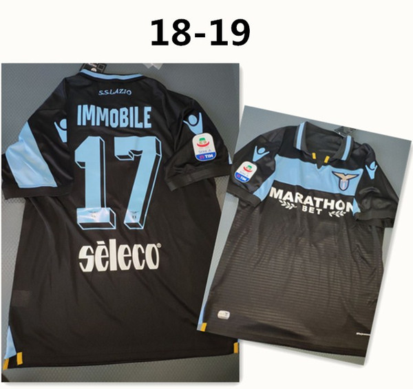 e2f521ae1 2018 2019 Lazio Away Soccer Jersey  17 IMMOBILE  19 LULIC  10 LUIS ALBERTO  With Patch Sponsor