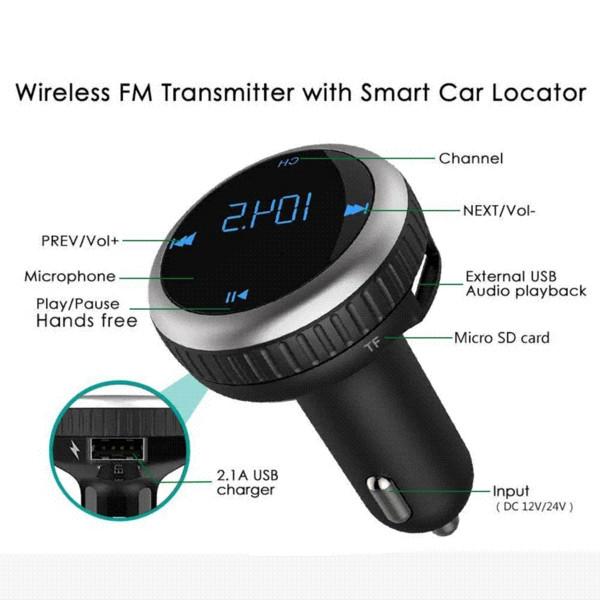 Nulaxy FM Transmitter Dual USB Car Charger Handsfree Car Kit MP3 Player Wireless FM Modulator Support TF Card USB Flash Drive