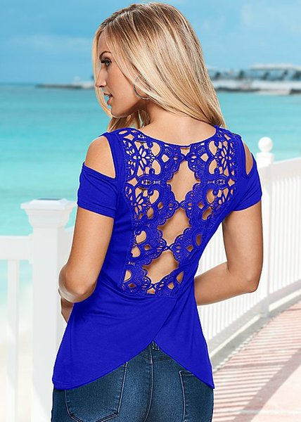 New Fashion Summer Women Casual Solid Lace Vest Sleeveless Backless Casual Cotton Camisole Blouse Tops T-Shirt
