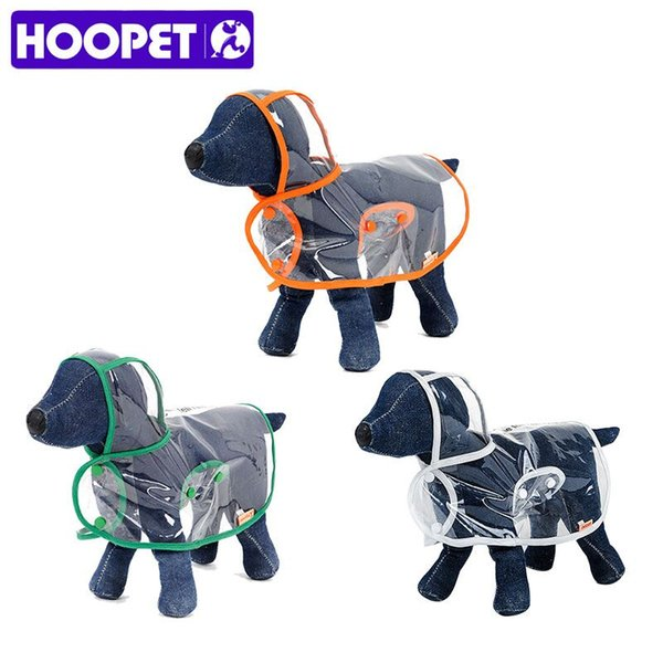 Dog Clothes transparent raincoat light clothes waterproof beautiful small dog raincoat with hood