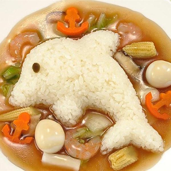 4шт милая улыбка кролика Дельфин суши нори Рис плесень декор резак Бенту чайник сэндвич DIY инструмент