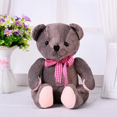Authentic Hot High Quality Pp Cotton 30cm Sitting Position Joint Teddy Bear Plush Toy Children Gift Doll Doll Doll