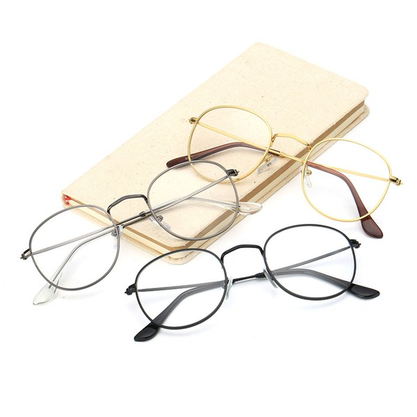 Woman Optical Clear Lenses Glasses Eyeglasses Women Eyeglasses Brand Designer Oval Small Alloy Eyewear Frame Frames For Man