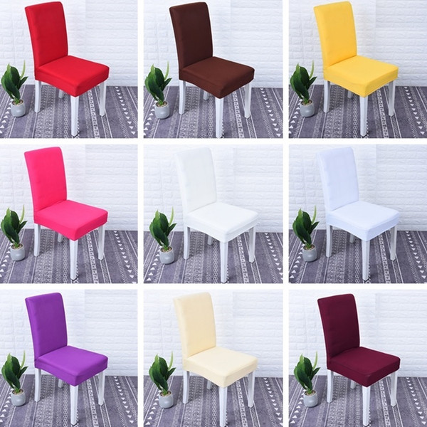 Newest High Elastic Chair Cover Restaurant Hotel Wedding Dining Room Chair Cover Home Decors Seat Covers Spandex Stretch Banquet I384
