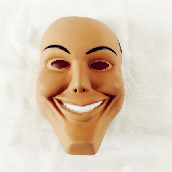 Máscara do Terror do Dia das Bruxas Rosto Sorridente Vestir Máscaras Plásticas Rosto Completo Adereços Adereços Traje Do Partido Suprimentos 2 5lh Ww