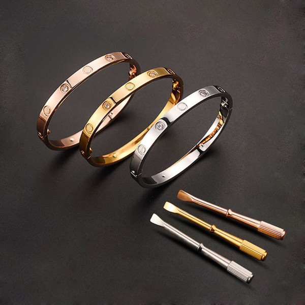 316L Stainless Steel Couple Jewelry Bracelet Bangle Women Men Screw Bracelet Screwdriver Pulseira Feminina Masculina
