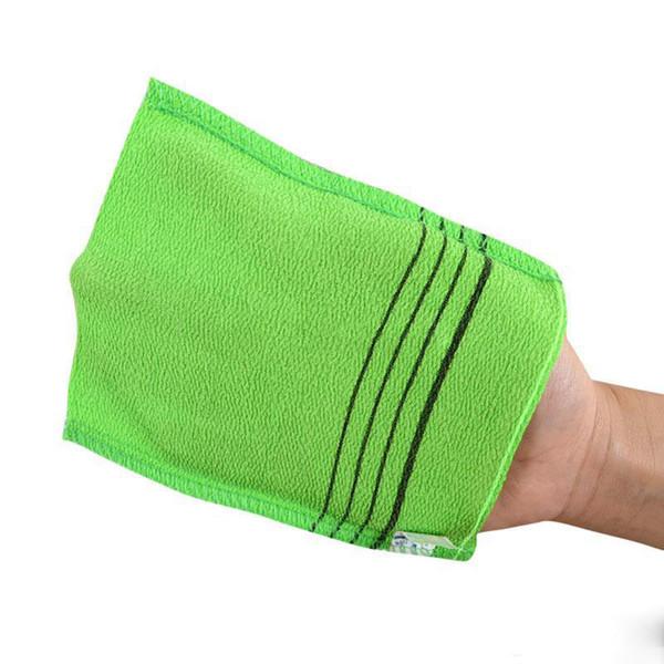 18*12cm Glove Type Double Sided Bath Towel Exfoliating Bath Washcloth Shower Wash Cloths Dead Skin Towel Bathroom Accessories