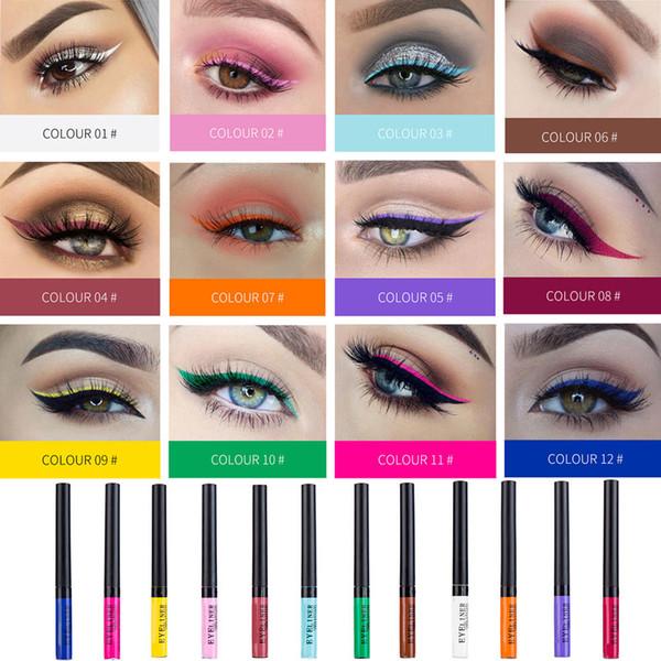 Maquillage coloré d\u0027eye,liner liquide eyeliner imperméable pour les fards à  paupières cosmétique