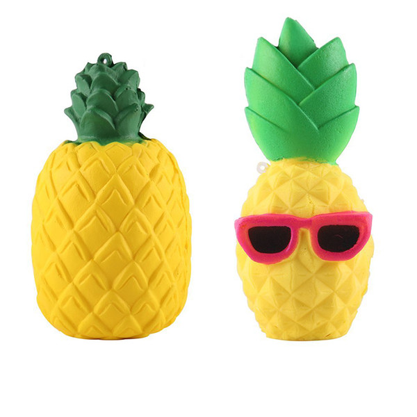 Hot Pineapple Squishy Sunglasses Decompression Jumbo Scented Simulation Squishies Decoration Kids Toy Glasses Squeeze Gift Free Shipping