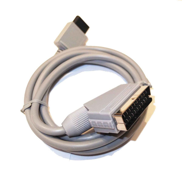 1.8m RGB Scart Video HD HDTV AV Cord Lead Cable Adapter Replacement For Wii / Wii U Video Game DHL FEDEX EMS FREE SHIPPING