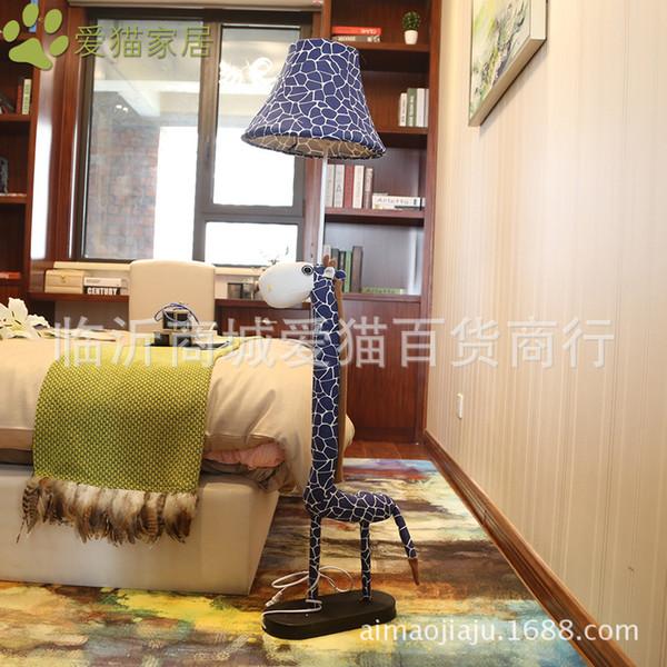 Novelty giraffe Cartoon Cloth Bedside Floor Lamp For Kid's Room E27 LED Dimmabl Animal Floor Lamp For Bedroom, Bed Room 1200