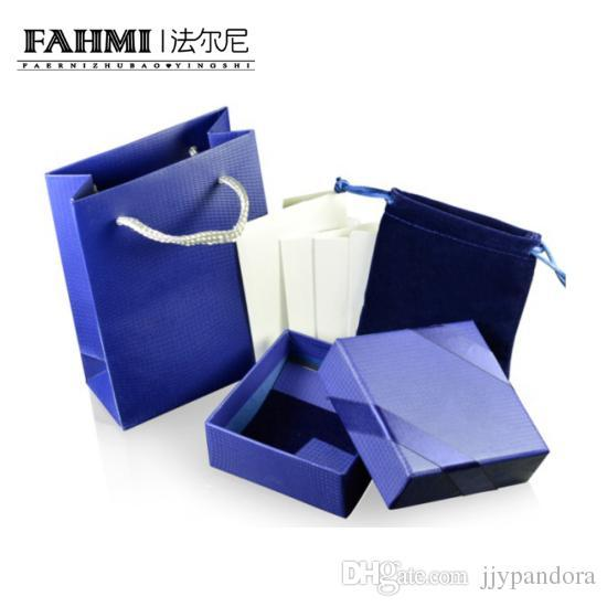 FAHMI Beautiful Earrings Box Set Noble Jewelry Protective Box Packaging Gift Bag Velvet Bag Card Charming Chic Women's Luxury Products