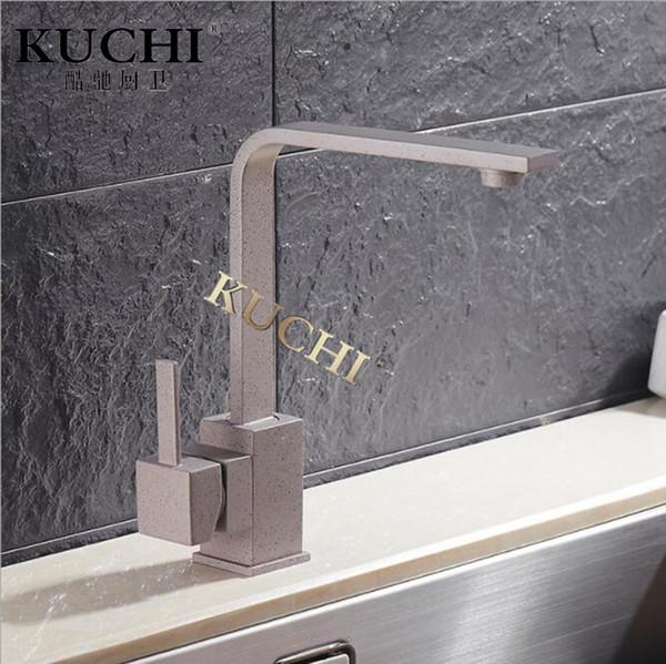 Grosshandel Kuchi 8008 Grau Kuchenarmatur Drehbare Quarzit Wasserhahn
