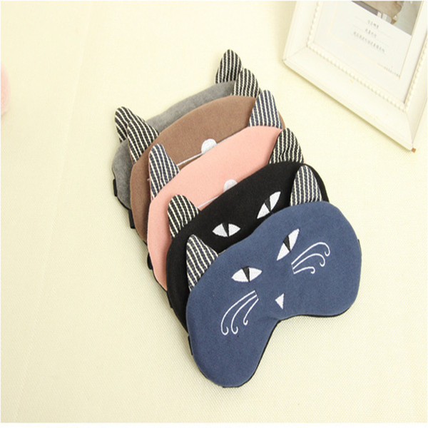 Very cute multi-color kitten Natsume modeling animation goggles prop elastic eye mask eye mask sleep mask