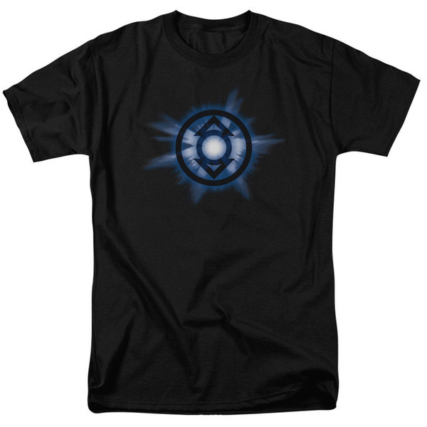 Green Lantern Corp Indigo Glow DC Comics Licensed Adult T Shirt T Shirts Short Sleeve Leisure Fashion Summer