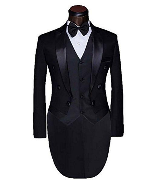 Latest design men's custom 12 style groom suit ball gown stylish wedding suits for men black formal business suits(jacket+ pants+ vest)