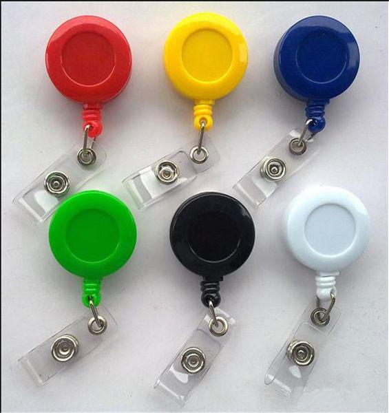 Retractable Skipass ID Card Badge Holder Reel Pull Keychain zurückziehen schlüsselanhänger Extensible Name Tag kay kette