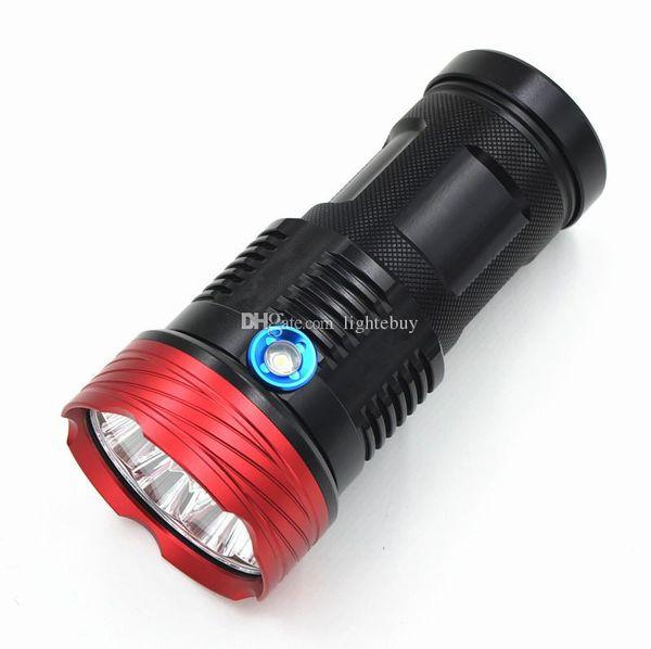 Venta al por mayor Nuevo 10000 Lumen 9T6 XML T6 LED Linterna Antorcha Impermeable Linterna 3 Modo de Luz de Flash Para Camping pesca