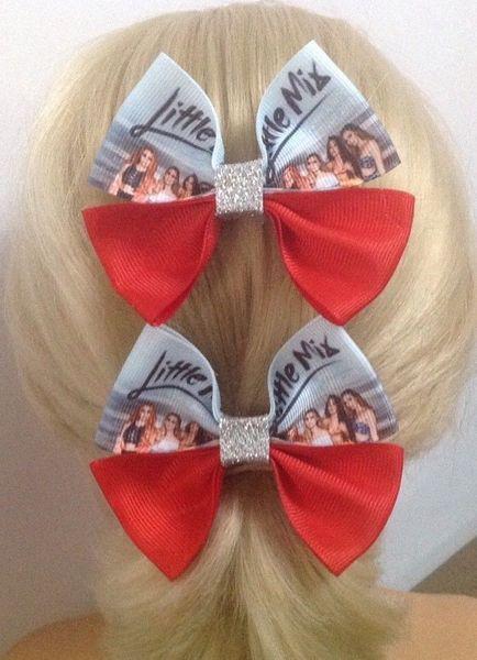 GLORY DAY Little Mix girls bow Sparkling 2018 Summer Tour Hits 3.5 Ribbon Hair Bow Clips baby girls hair headwear Hair accessories 15pcs/