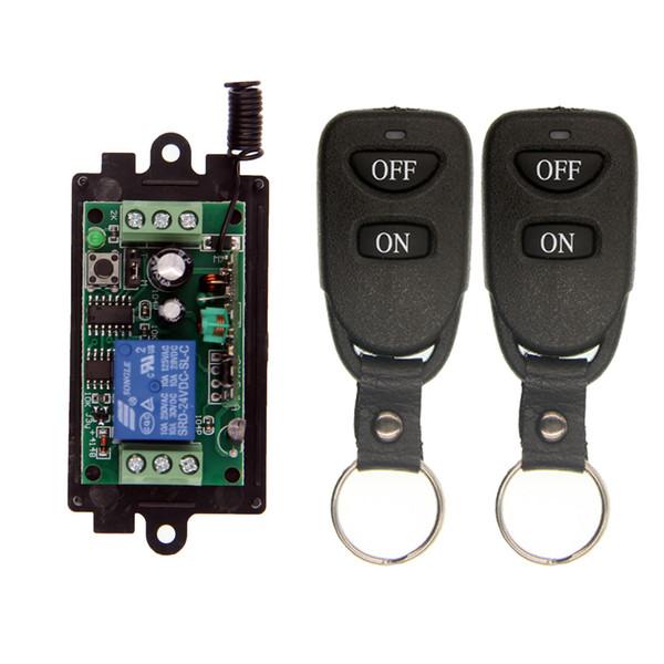 Control remoto inalámbrico RF Interruptor de luz 10A Salida de relé Radio DC 9V 12V 24V 1 CH Canal 1CH Módulo receptor + transmisor