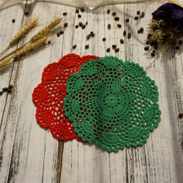 cotton knitted doilies fabric table coaster felt for wedding decor cup pad table mat placemat fast shopping jc-172
