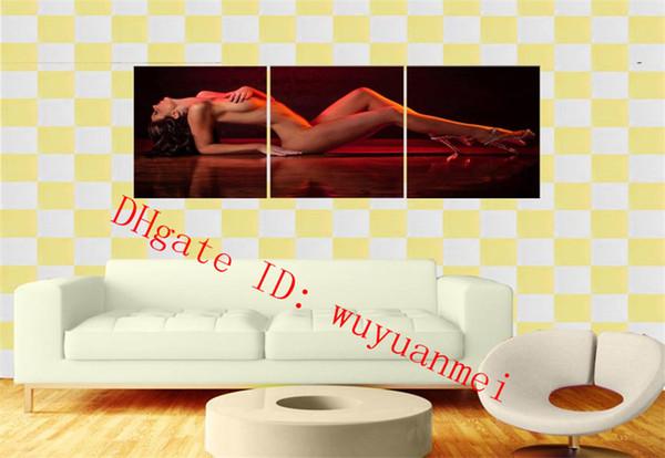 Bellezza nuda, 3 pezzi Home Decor HD Stampato arte moderna pittura su tela (senza cornice / con cornice)
