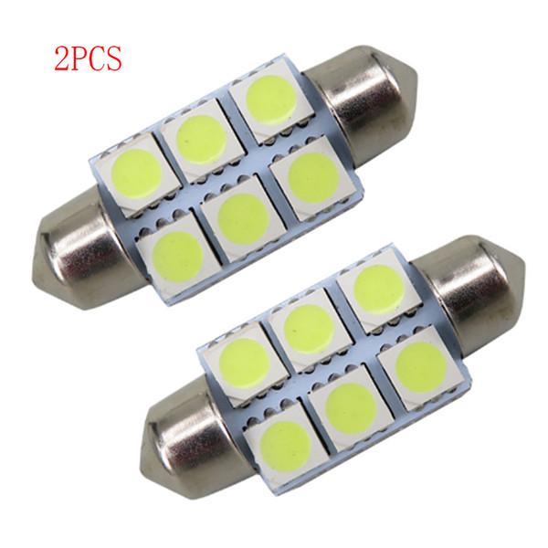 SEKINEW Lot 2pcs Blanc 36mm Festoon 5050 SMD 6 LED C5W Voiture Led Auto Lampe Ampoule 12 V Intérieur Accessoires Ornements