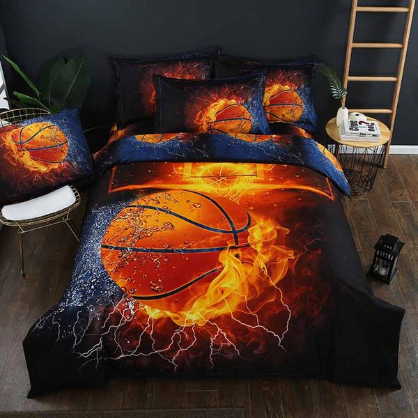 Heimtextilien 3D Gedruckt Kong Fu Basketball Bettwäsche Set Bettbezug Kissenbezug Tagesdecke 2or3pcs Bettbezug Sets