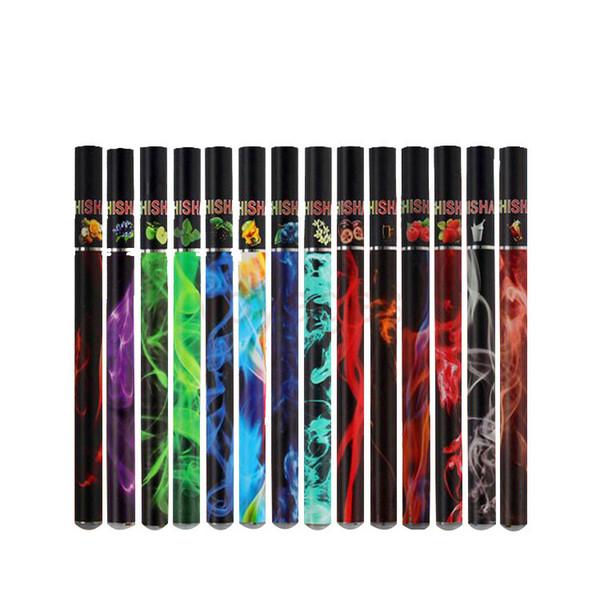 2018 vendita calda E ShiSha Narghilè Pipe Pen sigaretta elettronica usa e getta 38 sapori di frutta E Cig Stick 500 Puffs con LED e confezione regalo